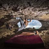 "Chris Sharma - ""Catalán Witness the fitness"" - Cova del Ocell - Foto © Ricardo Giancola"